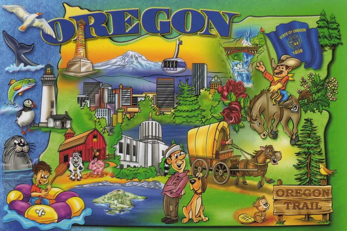 Morgaines Postcrossing Blog - Portland oregon on the usa map