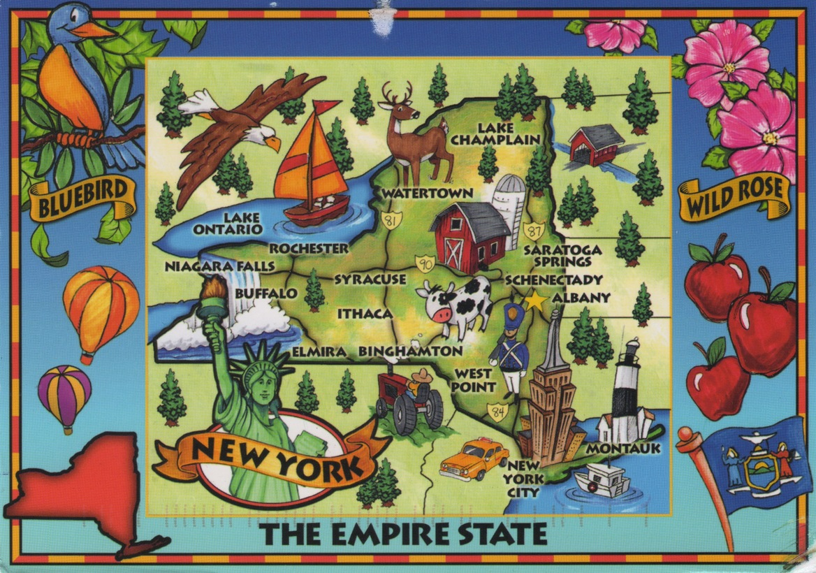 Cartoon Map Of New York City.Morgaine S Postcrossing Blog Official